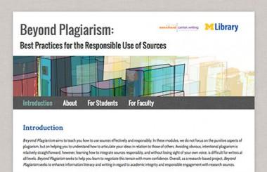 Beyond Plagiarism