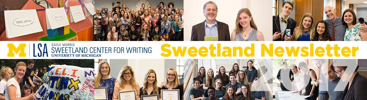 Sweetland Center for Writing Newsletter